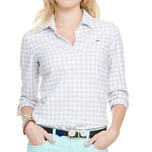 Vineyard Vines gray flannel gingham button up
